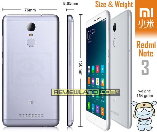 smartphone-xiaomiredminote3-size